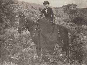 Kittie Wilkins on Sidesaddle (Mountain Home Historical Museum) (300 dpi) copy